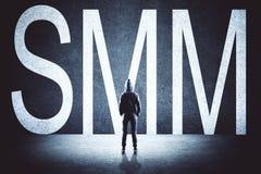 Χάκερ με SMM στοκ φωτογραφία