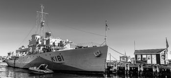 Χάλιφαξ, Νέα Σκοτία, Καναδάς - 20 Οκτωβρίου 2016: Σκάφος μουσείων θωρηκτών HMCS Sackville K181 τώρα, στο Χάλιφαξ στοκ εικόνα με δικαίωμα ελεύθερης χρήσης