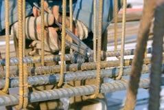 χάλυβας ράβδων ενίσχυσης Στοκ Φωτογραφία