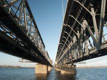 χάλυβας σιδηροδρόμου γεφυρών Στοκ Εικόνα