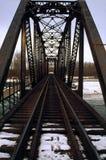 χάλυβας χιονιού σιδηροδρόμου γεφυρών στοκ εικόνα με δικαίωμα ελεύθερης χρήσης