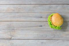 Χάμπουργκερ χοιρινού κρέατος Στοκ εικόνες με δικαίωμα ελεύθερης χρήσης