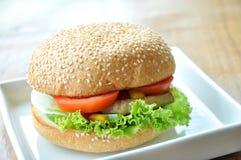 Χάμπουργκερ χοιρινού κρέατος Στοκ εικόνα με δικαίωμα ελεύθερης χρήσης