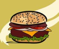 Χάμπουργκερ, burger Στοκ Φωτογραφία