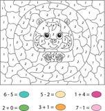 Χάμστερ κινούμενων σχεδίων Χρώμα από το εκπαιδευτικό παιχνίδι αριθμού για τα παιδιά Vect Στοκ Φωτογραφίες