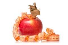 Χάνοντας βάρος υγείας εκατοστόμετρων της Apple Στοκ εικόνες με δικαίωμα ελεύθερης χρήσης