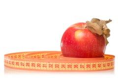 Χάνοντας βάρος υγείας εκατοστόμετρων της Apple Στοκ φωτογραφία με δικαίωμα ελεύθερης χρήσης
