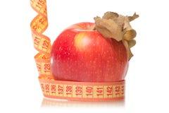 Χάνοντας βάρος υγείας εκατοστόμετρων της Apple Στοκ Εικόνες