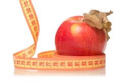 Χάνοντας βάρος υγείας εκατοστόμετρων της Apple Στοκ Εικόνα