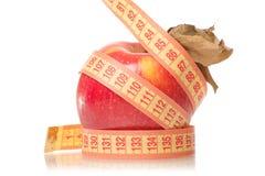 Χάνοντας βάρος υγείας εκατοστόμετρων της Apple Στοκ Φωτογραφίες