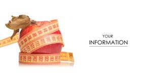 Χάνοντας σχέδιο βάρους υγείας εκατοστόμετρων της Apple Στοκ Εικόνες