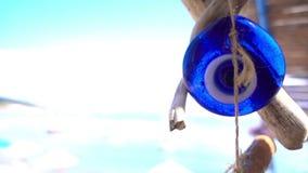 Χάντρα και παραλία φυλακτών απόθεμα βίντεο