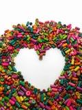 Χάντρες και καρδιά Στοκ φωτογραφίες με δικαίωμα ελεύθερης χρήσης