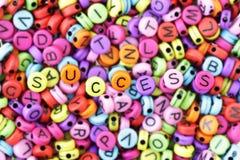 Χάντρες κειμένων επιτυχίας, που επιδιώκουν την επιτυχία Στοκ Εικόνες