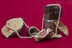 Χάντρες μαργαριταριών Στοκ εικόνα με δικαίωμα ελεύθερης χρήσης