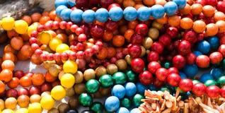 χάντρες που χρωματίζοντα&iot Στοκ εικόνες με δικαίωμα ελεύθερης χρήσης