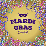 Χάντρες της Mardi Gras επίσης corel σύρετε το διάνυσμα απεικόνισης απεικόνιση αποθεμάτων