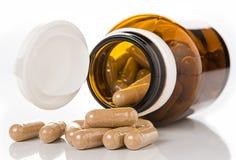 Χάπια από το μπουκάλι Στοκ Εικόνες