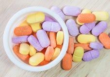 Χάπια βιταμινών Στοκ Φωτογραφίες