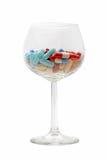χάπια γυαλιού στοκ φωτογραφία με δικαίωμα ελεύθερης χρήσης
