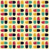 Χάπια και ταμπλέτες φαρμάκων γεωμετρικό πρότυπο άνευ ραφής στοκ φωτογραφία με δικαίωμα ελεύθερης χρήσης