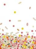 χάπια καψών ανασκόπησης Στοκ Φωτογραφία