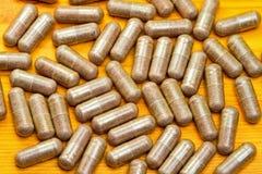 χάπια μούρων acai στοκ φωτογραφία