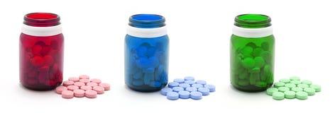 χάπια μπουκαλιών Στοκ εικόνα με δικαίωμα ελεύθερης χρήσης