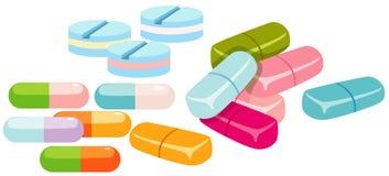 χάπια ομάδας διανυσματική απεικόνιση