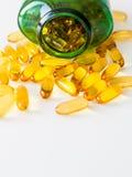 Χάπια πετρελαίου ψαριών Στοκ φωτογραφία με δικαίωμα ελεύθερης χρήσης