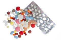 χάπια που ανατρέπονται Στοκ φωτογραφία με δικαίωμα ελεύθερης χρήσης