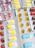 χάπια που τίθενται Στοκ φωτογραφία με δικαίωμα ελεύθερης χρήσης
