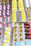 χάπια που τίθενται Στοκ Εικόνα
