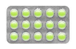 Χάπια στη φουσκάλα Στοκ Φωτογραφίες