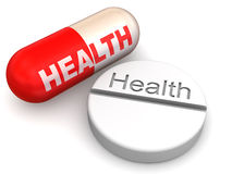 χάπια υγείας Στοκ φωτογραφίες με δικαίωμα ελεύθερης χρήσης