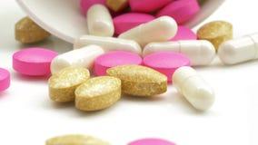 Χάπια φαρμάκων ιατρικής απόθεμα βίντεο