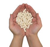 χάπια χεριών Στοκ Εικόνες