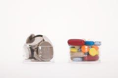 χάπια χρημάτων στοκ φωτογραφία με δικαίωμα ελεύθερης χρήσης