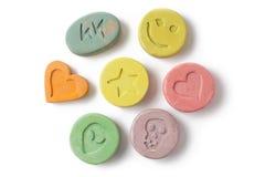 Χάπια Ecstasy Στοκ εικόνα με δικαίωμα ελεύθερης χρήσης