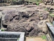 Χάραξη βράχου στη Σρι Λάνκα Στοκ Εικόνες