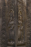 Χάραξη πετρών χορευτών Apsara στο ναό Angkor Wat Στοκ φωτογραφίες με δικαίωμα ελεύθερης χρήσης