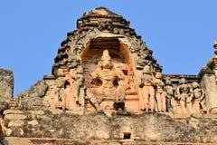 Χάραξη πετρών Krishna στον ινδό ναό σε Hampi στοκ φωτογραφία με δικαίωμα ελεύθερης χρήσης