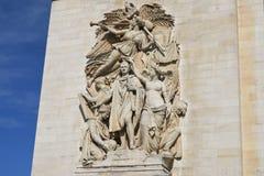 Χάραξη στην πλευρά arc de triomphe Στοκ φωτογραφία με δικαίωμα ελεύθερης χρήσης