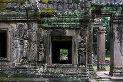 Χάραξη στο ναό Banteay Kdei Στοκ Εικόνες