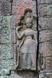 Χάραξη στο ναό Banteay Kdei Στοκ εικόνα με δικαίωμα ελεύθερης χρήσης
