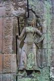 Χάραξη στο ναό Banteay Kdei Στοκ Φωτογραφίες