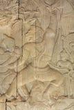 Χάραξη τοίχων στο ναό Prasat Bayon σε Angkor Thom, Καμπότζη Στοκ φωτογραφία με δικαίωμα ελεύθερης χρήσης