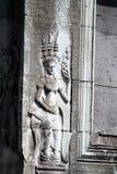 Χάραξη Apsara σε Angkor Wat Στοκ εικόνα με δικαίωμα ελεύθερης χρήσης