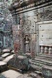 Χάραξη Apsara στον τοίχο στο 12ο ναό Preah Khan αιώνα Στοκ φωτογραφία με δικαίωμα ελεύθερης χρήσης