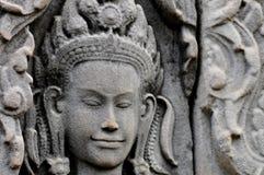 Χάραξη Apsara στο angkor wat Στοκ Εικόνες